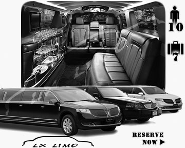 Cleveland Town Car Stretch Limo for rental