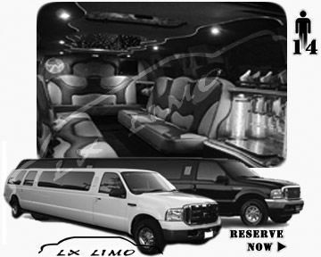 Lincoln Excursion SUV Limo for hire in Cleveland, OH